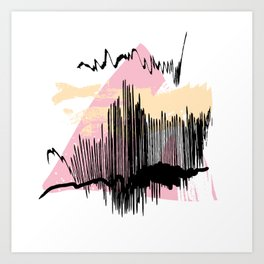 Pink mess Art Print