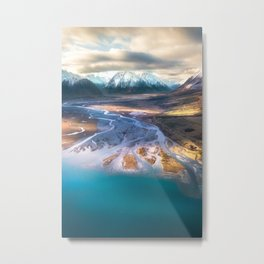 """Ohau Beautiful"" - High above Lake Ohau, New Zealand Metal Print"