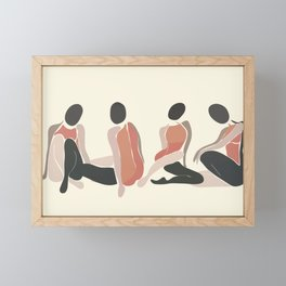 Woman Forms Framed Mini Art Print