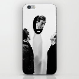 Street Art Fiera in Bologna Black and White iPhone Skin