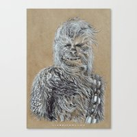 chewbacca Canvas Prints featuring Chewbacca by liam nicholson