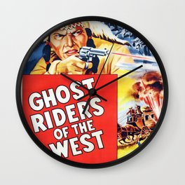Ghost Riders of The West Wall Clock