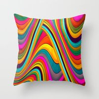 acid Throw Pillows featuring Acid by Danny Ivan