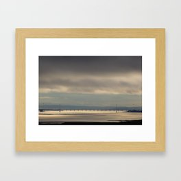 Severn Bridge Sundown Framed Art Print