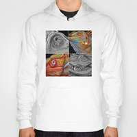 scales Hoodies featuring Reptile Scales by Tim Jeffs Art