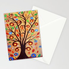 Abstract tree 4 Stationery Cards