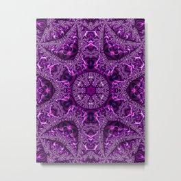 Magenta Fractal Kaleidoscope 2 Metal Print