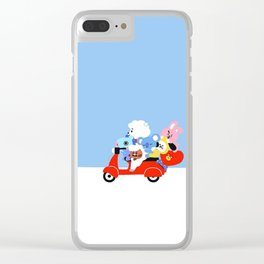 BT21 on the Road Clear iPhone Case