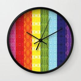 TorsoPattern Gay Pride Flag (Original 8-Color) Wall Clock