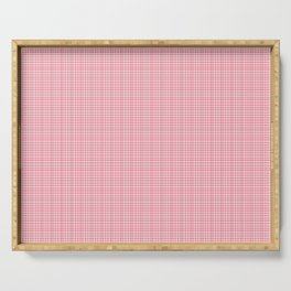 Red & Pink Plaid Serving Tray