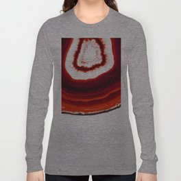 Red Agate Geode slice Long Sleeve T-shirt