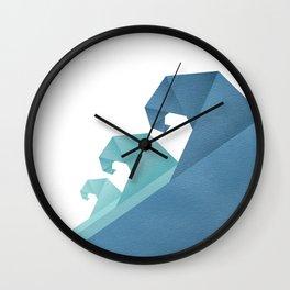 Wave geometric art Wall Clock