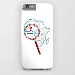 Benin Under The Magnifying Glass iPhone Case
