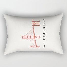 Golden Gate Bridge 2, San Francisco, California Rectangular Pillow