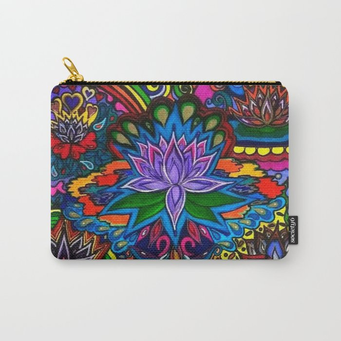Lotus Flower Psychedelic Dreams Carry-All Pouch