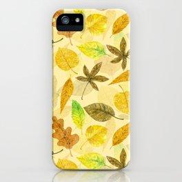 Autumn pattern watercolor 2 iPhone Case