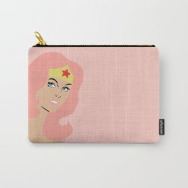 woman of wonder pink hair Carry-All Pouch