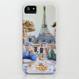 Tea Time in Paris iPhone Case