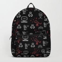 Tech Style Illustrative pattern Backpack