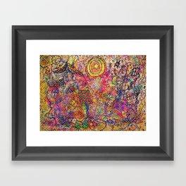 LANDSCAPE WITH DOTS Framed Art Print