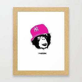 I'nstein Monkey Framed Art Print