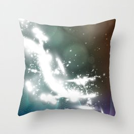 abstract background with highlights Throw Pillow