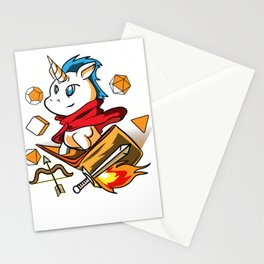 Gamer Unicorn Dungeon RPG Tabletop funny gift Stationery Cards