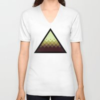 pyramid V-neck T-shirts featuring Pyramid by Jandris Illustration