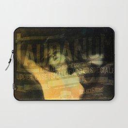 Laudanum, Vintage Advertisement Collage Laptop Sleeve