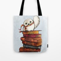 hedwig Tote Bags featuring Hedwig by Sam Skyler