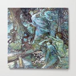 "Arthur Rackham, "" Wood Nymphs "" Metal Print"