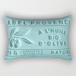 blue french marseille soap Rectangular Pillow
