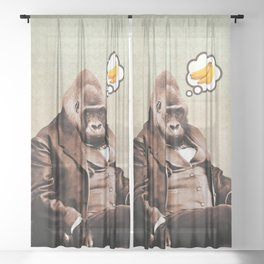 Gorilla My Dreams Sheer Curtain