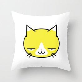 Kore wa Cat (Smug Yellow Cat) Throw Pillow