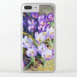 Crocuses Clear iPhone Case