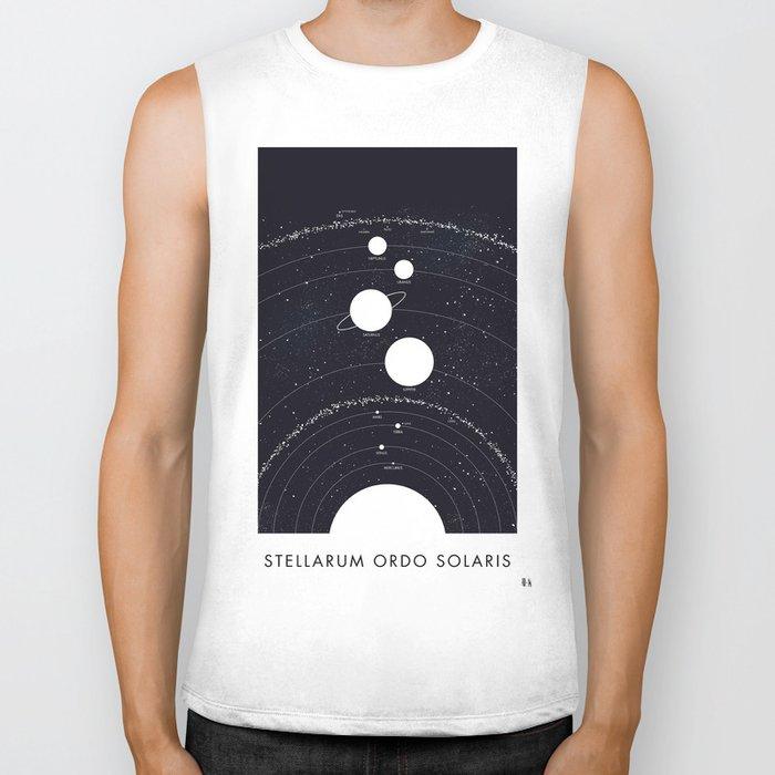 Stellarum Ordo Solaris: A map of our Solar system Biker Tank
