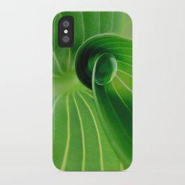 Leaf / Hosta with Drop (2) iPhone Case
