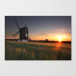 Pitstone Windmill Sunset Canvas Print