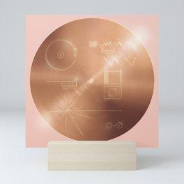Voyager Golden Record - Rose Variant Mini Art Print