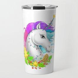 Xmas Unicorn Travel Mug