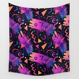 Retro vintage 80s or 90s fashion style abstract  pattern  Wall Tapestry