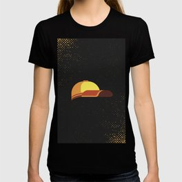 Minimal Retro Cricket Hat T-shirt