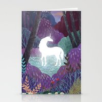Stationery Cards featuring The Last Unicorn by Beesants