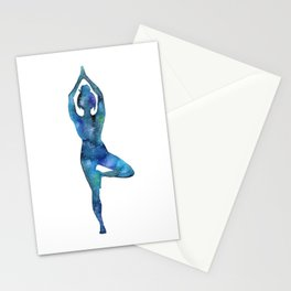 Tree Pose Stationery Cards