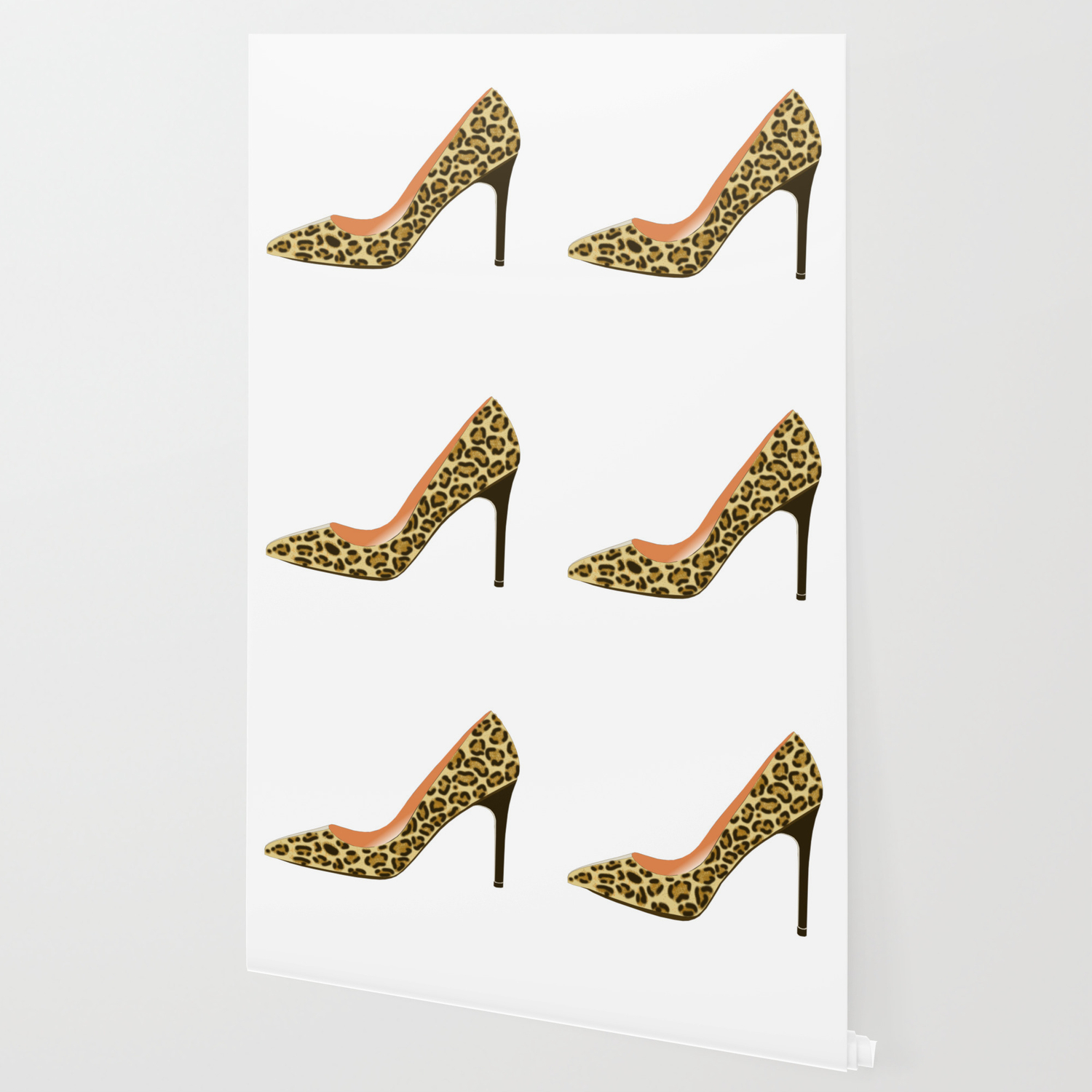 cb56ef2139d Leopard Print High Heel Shoe Wallpaper