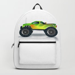 Monster Truck Toy Design Backpack