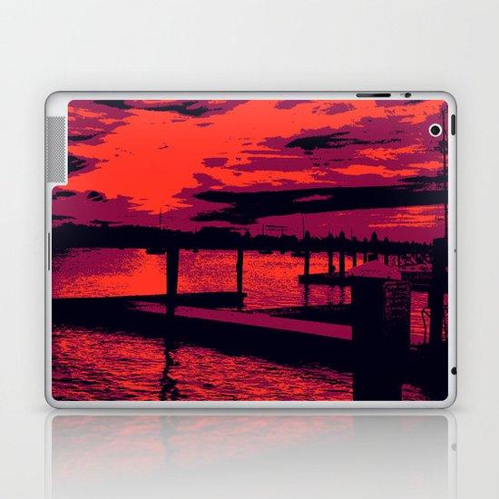 Sunset Over Bristol Harbor Laptop & iPad Skin