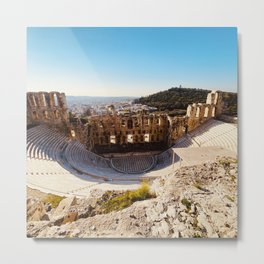 Odeon of Herodes Atticus, Ancient Greece, Greece photo, Herodeion, Herodion, Greek, Greece love Metal Print