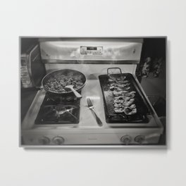 Meat. A complete meal. Metal Print