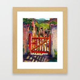 Red Gate Framed Art Print